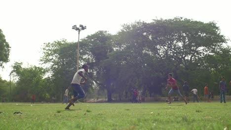 Boy-Hits-a-Cricket-Ball-With-a-Bat