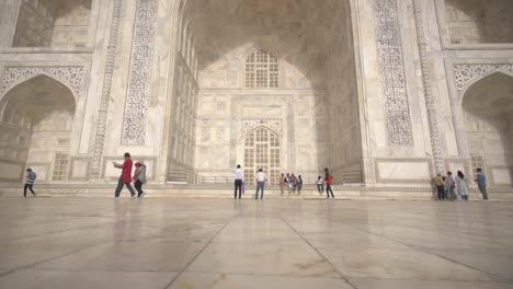 Low-Level-Close-Up-of-the-Taj-Mahal