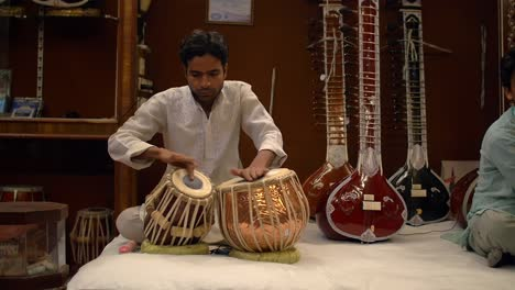Indian-Man-Playing-Tabla