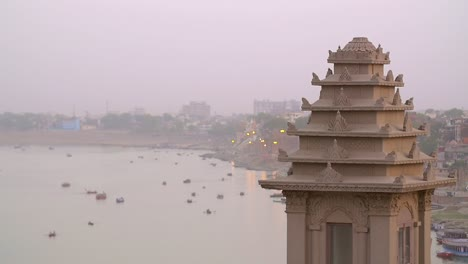Tower-in-Front-of-the-River-Ganges
