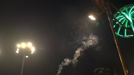 Incense-Smoke-at-Ganga-Aarti-Ceremony