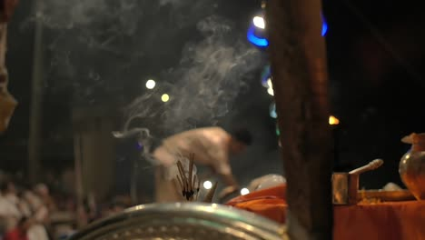 Incense-Burning-at-Ganga-Aarti-Ceremony
