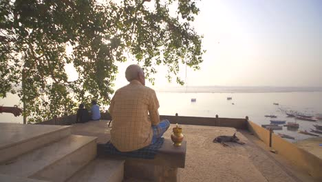 Man-Overlooking-River-Ganges