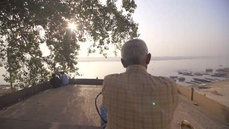 Elderly-Man-Praying-Near-the-Ganges
