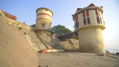 Shot-Revealing-Water-Towers-by-the-Ganges