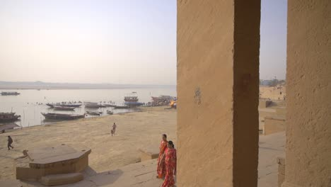 Indian-Woman-Walking-Along-Ganges