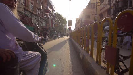 Tracking-Shot-Along-Busy-Varanasi-Street