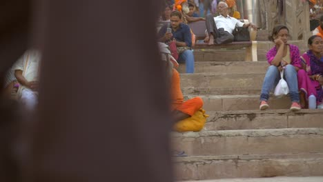 Indian-Sadhu-Sitting-on-Ganges-Ghat