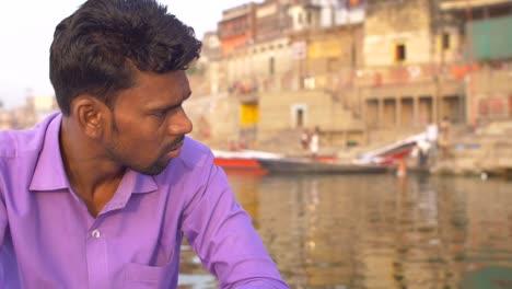 Man-Rowing-Boat-on-River-Ganges