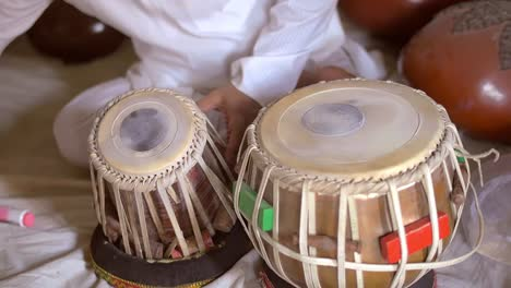 Setting-Up-Traditional-Indian-Drums