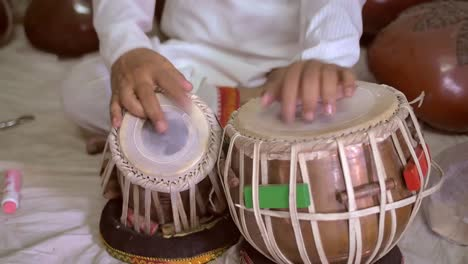 Hands-Playing-Traditional-Indian-Drums