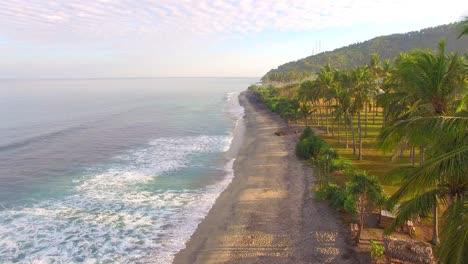 Flying-Over-Empty-Beach