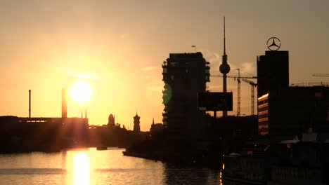Silhouetted-Berlin-Skyline-at-Sunset
