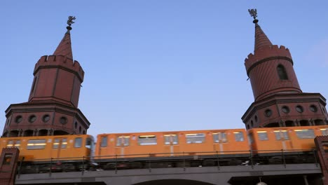 Train-Passing-Over-Bridge-in-Berlin