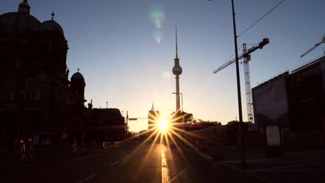 Berlin-Skyline-Silhouetted-at-Sunrise