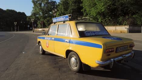 Vintage-Russian-Police-car