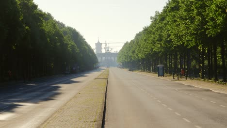 Man-Running-Down-Empty-Berlin-Road