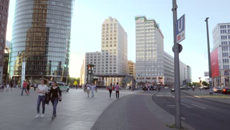 People-Walking-Across-Potsdamer-Platz