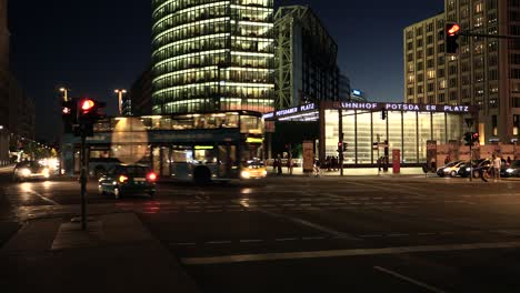 Bahnhof-Potsdamer-Platz-Entrance-at-Night