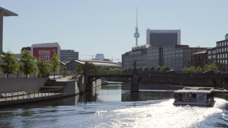 Berlin-Cityscape-With-River-Spree