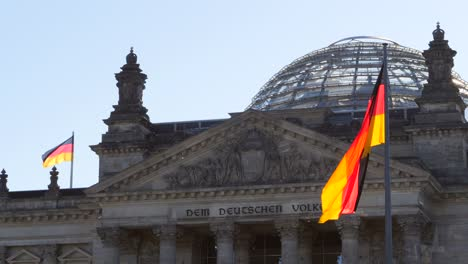 German-Flag-Flying-Infront-of-Reichstag-Building