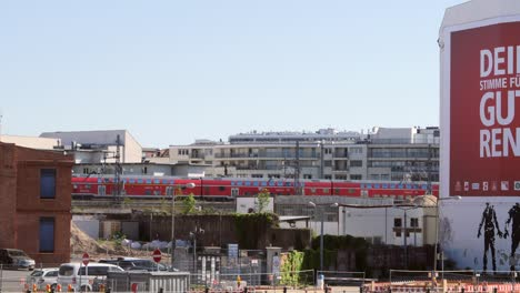 Train-Passing-Run-Down-Area-in-Berlin