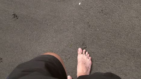 POV-Man-Walking-on-Beach