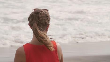 Lady-Overlooking-Ocean