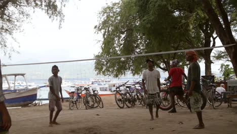 Boys-Playing-Volleyball-in-Indonesia