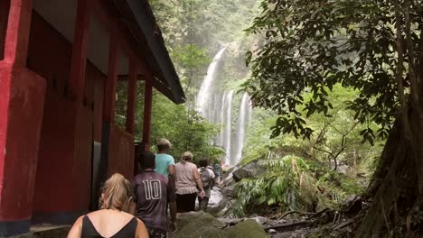 People-Lining-Up-to-See-a-Waterfall
