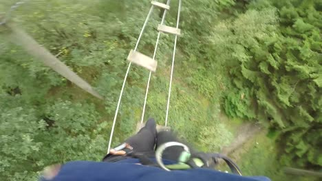 POV-Walking-Across-Tree-Top-Ladder