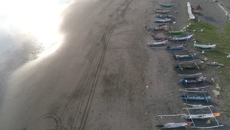 Aerial-View-of-Outriggers-on-a-Beach