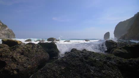 Waves-Crashing-in-a-Rocky-Bay