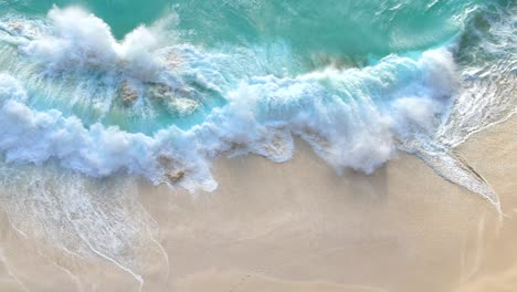 Waves-Crashing-on-a-Tropical-Beach