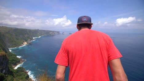 Man-Overlooking-Indonesian-Coast