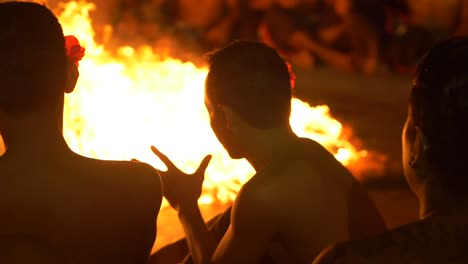 Men-Performing-in-a-Traditional-Kecak