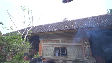 Woman-Burning-Incense-in-a-Hindu-Temple