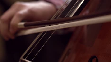 Close-Up-of-Cello-Being-Played