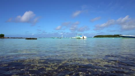 Boats-Moored-in-Lagoon-in-Mauritius