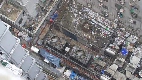 Looking-Down-at-Garbage-Surrounding-Building