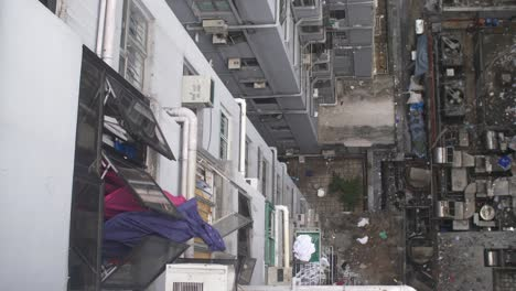 Looking-Down-at-Grubby-Apartment-Building