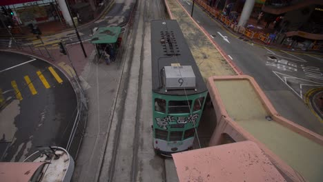 Tram-in-Downtown-Hong-Kong