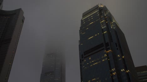 Mist-Surrounding-Hong-Kong-Skyscrapers