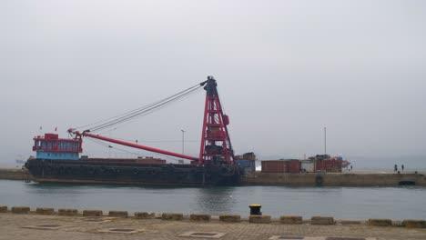 Docked-Cargo-Ship