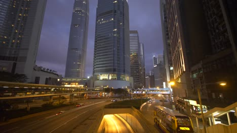 Hong-Kong-Skyscrapers-at-Dusk