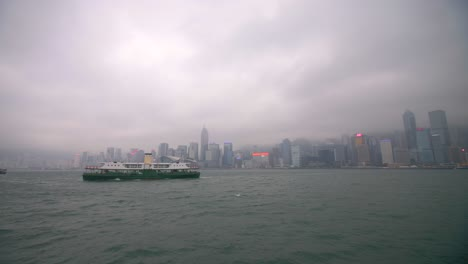 Ferry-In-Front-of-Hong-Kong-Skyline