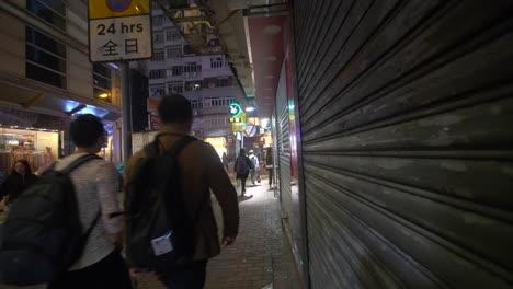 Tracking-Backwards-down-Hong-Kong-Sidewalk