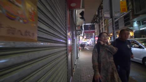 Walking-Down-Hong-Kong-Pavement