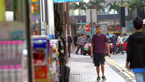 People-and-Cars-in-a-Hong-Kong-Street