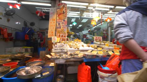 Produce-on-Stalls-at-Hong-Kong-Market